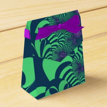Green Grove Star Tent Party Favor Boxes