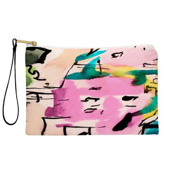 Ginette Fine Art Pink Twink Abstract Pouch