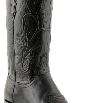 Lucchese Heritage Mens Black Buffalo Western Boots N1652