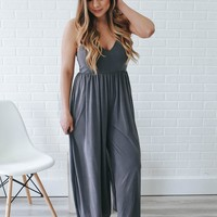 Hint of Pride Jumpsuit - Charcoal