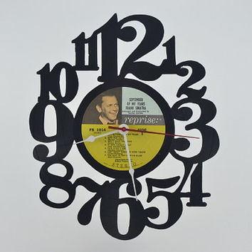 Vinyl Record Album Wall Clock (artist is Frank Sinatra)