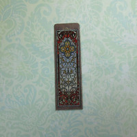 Dollhouse Miniature Art Nouveau Stained Glass Panel