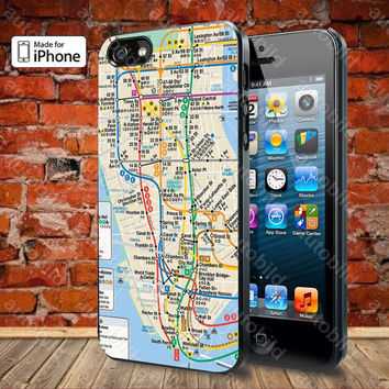 Nyc subway map Case For iPhone 5, 5S, 5C, 4, 4S and Samsung Galaxy S3, S4