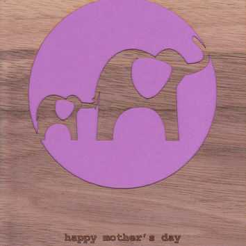 Mother's Day Card ~ Mother's Day Elephant - Elephant card - mothers day new mom card - first mothers day - mother daughter grandma