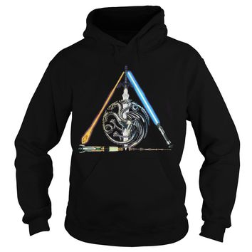 All sword star war and mother of dragon Game of Thrones shirt Hoodie