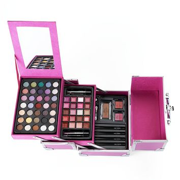 The Color Institute Color Explosion Makeup Collection Train Case Gift Set