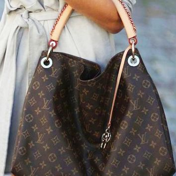 LV Classic Fashionable Women Retro Shopping Bag Leather Handbag Tote Satchel Bag I/A
