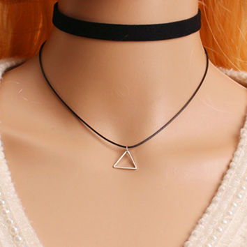 1 Pc Plain Black Velvet Ribbon Wide Choker Necklace Gothic Handmade With Charm Gothic Emo For Women Retro Punk Neckalce  x176