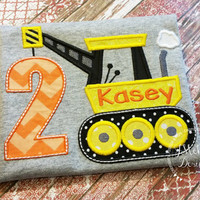 Construction Birthday Applique shirt - Customizable -  Infant to Youth