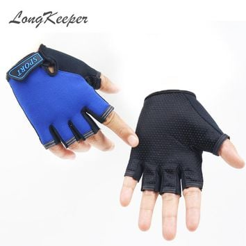 LongKeeper 2017 New Gloves For Kids Semi-finger Children Cartoon Pattern Mittens Boys Girls fingerless Gloves 5-13 Years G276