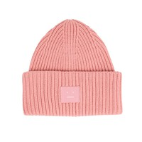 Pink Patch Monochrome Beanie by Acne Studios