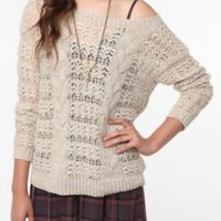Pins and Needles Mixed-Stitch Sweater