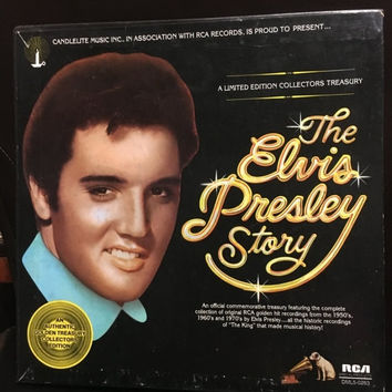 5 DAY SALE (Ends Soon) Vintage Rare The Elvis Presley Story 5 Record Set