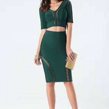 Latest Dress Designs For Ladies Bodycon Dresses Women Summer Mini Two Pieces