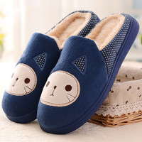 Cartoon Cat Pattern Indoors Anti-Slip Flat Slippers