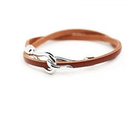 New Arrival Gift Shiny Stylish Hot Sale Great Deal Awesome Men Leather Accessory Ring Bracelet [6526749379]