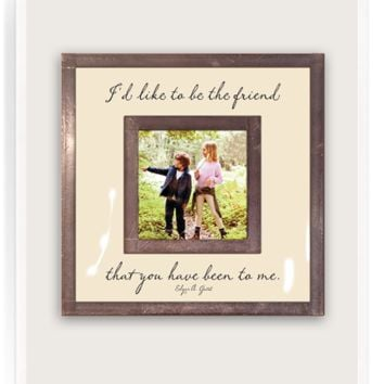 """I'd Like To Be The Friend You've Been 3""""x 3"""" Copper & Glass Photo Frame"""