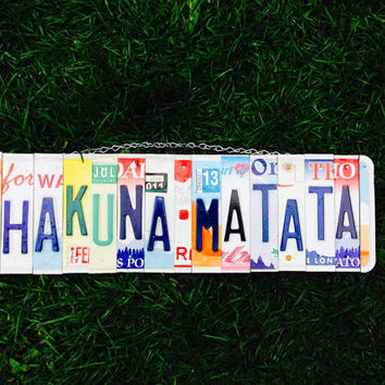 Kids. Home decor. Licenseplate. Sign. Custom. Car. Dad. Men. License plate art. Lion king. Happy. Colorful. Gift idea. Room. Baby.