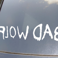 Bad Wolf Car Sticker