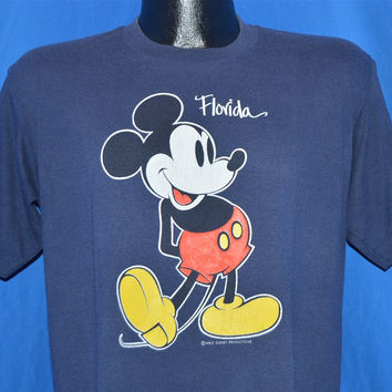 80s Mickey Mouse Walt Disney World Florida t-shirt Large