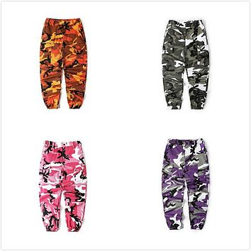 Unisex Camouflage Pants Couple Cargo Pants Men Women Street Joggers 2017 New Fashion Sweatpants Casual Trousers hiphop pantalon