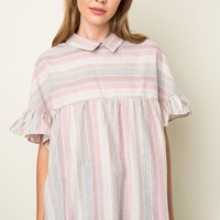 Striped Baby Doll Top