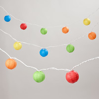 Multicolored 9' Umbrella Paper String Lights - World Market