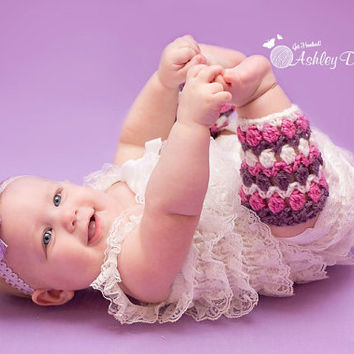 Spring Tulip Leg Warmers (Newborn - 24 Months) Crochet Pattern - PDF - Instant Digital Download