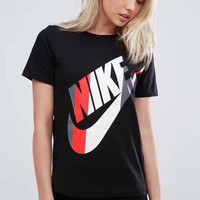 Nike hit color logo printed sports casual T-shirt