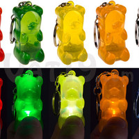 Gummy Bear Keychains: Light-up keyrings shaped like gummy bears.