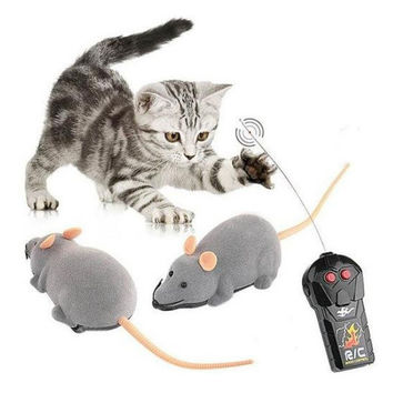 Remote Control Mouse Tricky Plastic Flocking Wireless Cat Dog Toy