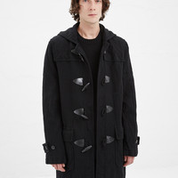 Totokaelo - Comme des Garcons SHIRT Black Wool Toggle Coat - $1,415.00