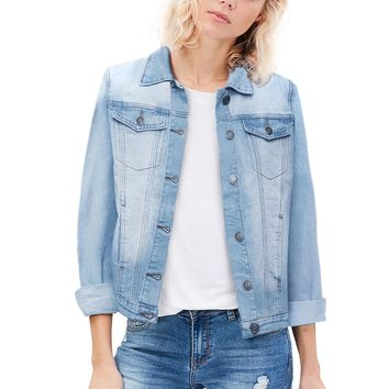 REVOLT Women Junior classic 4 Pockets Denim Jacket