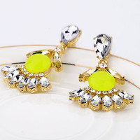 Yellow Gemstone Earring Studs,Crystal Earrings,Thanksgiving,Christmas Gifts for Girls and Women,Dangle Earrings,Free Gift Box Wrap Available