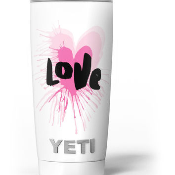 Splattered Pink Love Yeti Rambler Skin Kit