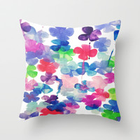 Garden Throw Pillow by DuckyB (Brandi)