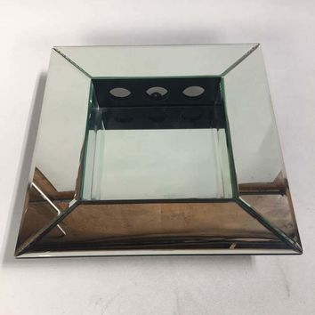 Modern Wall Mirror with Candle Holders