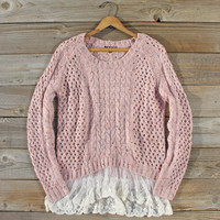 Marlow Lace Fisherman's Sweater