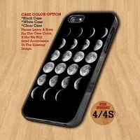 Moon Phases Lunar Phases- Design on Hard Case For iPhone 4/4S Case