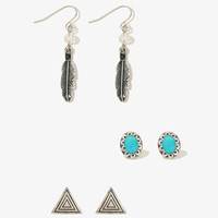 Feather Charm Earring Set   FOREVER21 - 1011415215