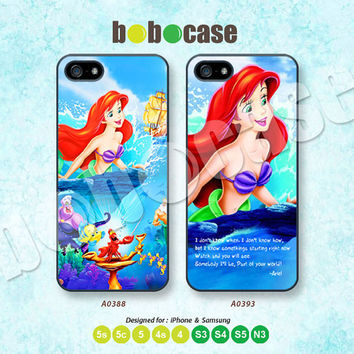 Disney Princess, Little Mermaid iPhone 5 case, iPhone 5C Case, iPhone 5S case, Phone Cover, iPhone 4 Case, iPhone 4S Case, iPhone case A0388