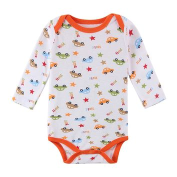 One-Piece New Fashion Autumn And Winter Baby Romper Boy Newborn Clothes Romper Full Sleeve Infant  Baby Rompers Character Print