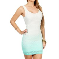IvoryTeal Crochet Tank Dress