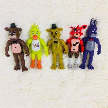 1set/lot 10CM pvc  at Freddy Joints can move doll toys Children's toys Holiday gifts Christmas gift
