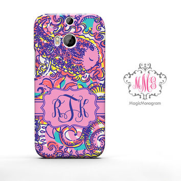 Summer Sea and Bea Seen Lilly Pulitzer Monogram HTC Case M9, M8 Case