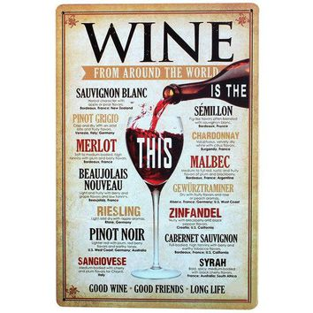 SHOTS MENU Vintage Wine Sign Retro Tin Neon Plaque Decor Home Plate for Business Lounge Office Party