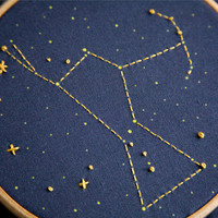 Orion Constellation Embroidery Kit by MiniatureRhino on Etsy