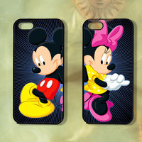 Customized Minnie and Mickey Couple Case-iPhone 5, iphone 4s, iphone 4 case, Samsung GS3-Silicone Rubber or Hard Plastic Case, Phone cover