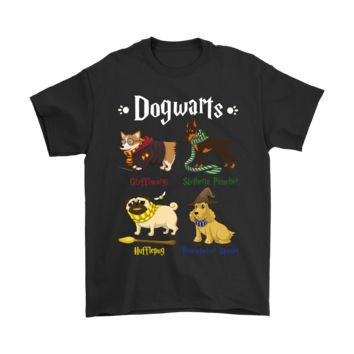 PEAP3CR Dogwarts The Four Dog Houses Harry Potter Shirts