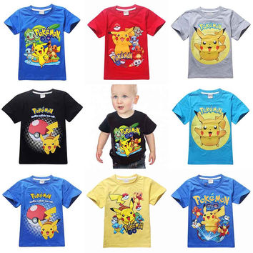 Children t shirt pokemon go
